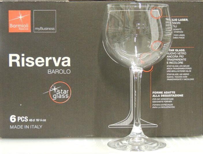 6 Bicchieri Bormioli Riserva Barolo cl 48