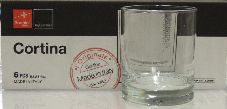 6 Bicchieri Bormioli Cortina x Acqua cl 25,50