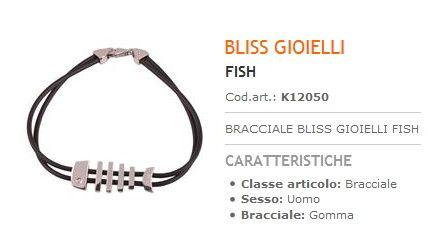 Bracciale Bliss Gioielli Fish Uomo