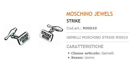 Moschino Gemelli Strike Uomo