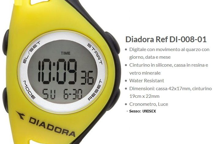 Diadora Ref Orologio Giallo / Nero Unisex