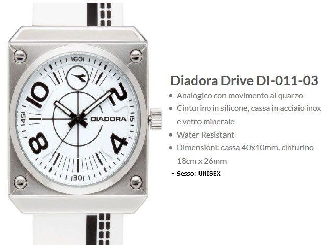 Diadora Drive Orologio Bianco / Nero Unisex
