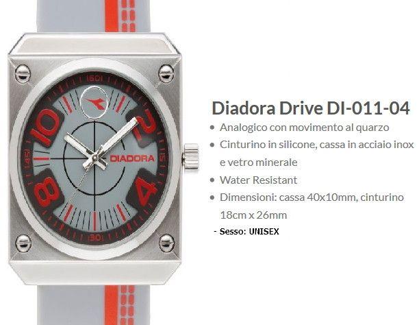 Diadora Drive Orologio Grigio / Arancione Unisex