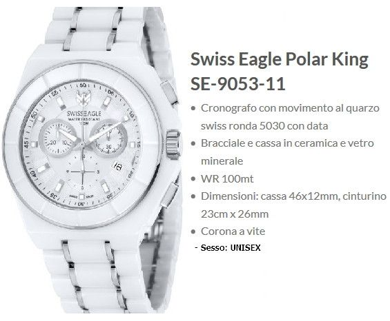 Swiss Eagle Polar King Bianco Unisex