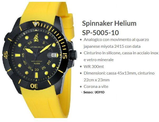 Spinnaker Helium Orologio Uomo Giallo