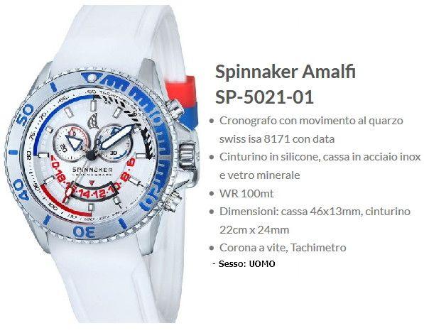 Spinnaker Amalfi Orologio Uomo Bianco