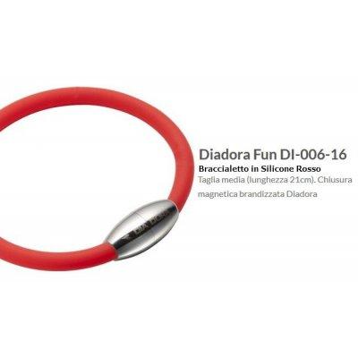 Diadora Fun Bracciale in Silicone Rosso cm 21