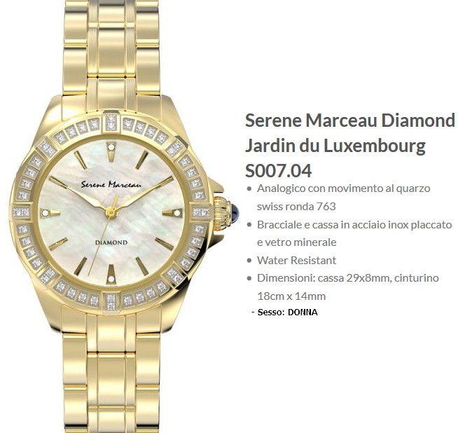 Serene Marceau Diamond Jardin du Luxembourg Orologio Donna