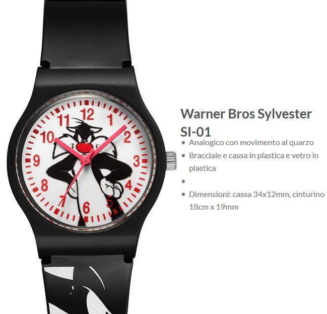 "Warner Bros Orologio Sylvester ""Gatto Silvestro"""