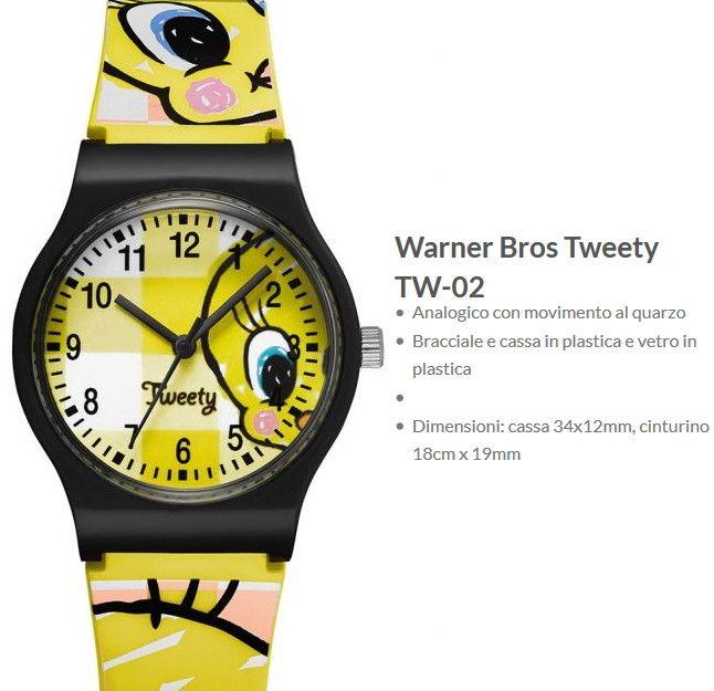 accogliente fresco miglior servizio diversificato nella confezione Warner Bros Orologio Tweety
