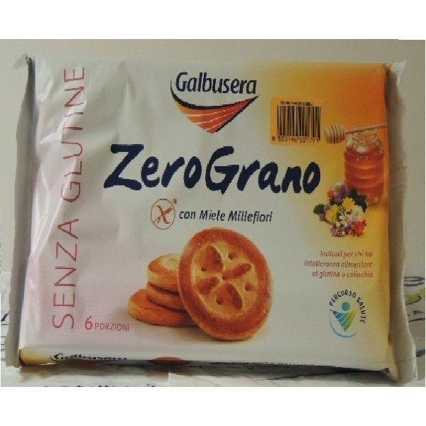 Zero Grano con Miele S/Glutine gr 260 Galbusera Biscotti