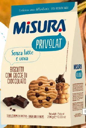 Biscotti Privolat senza Latte / Uova con gocce di cioccolata