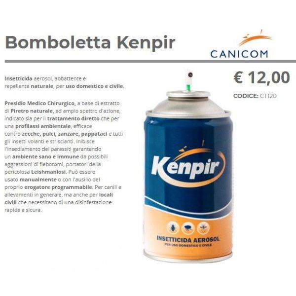 Antiparassitario Kenpir Bomboletta Ricambio o uso manuale Domestico e Civile