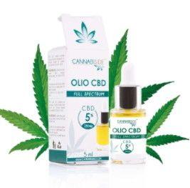 Olio CBD al 5% Full Spectrum di Cannabis Sativa 5 ml