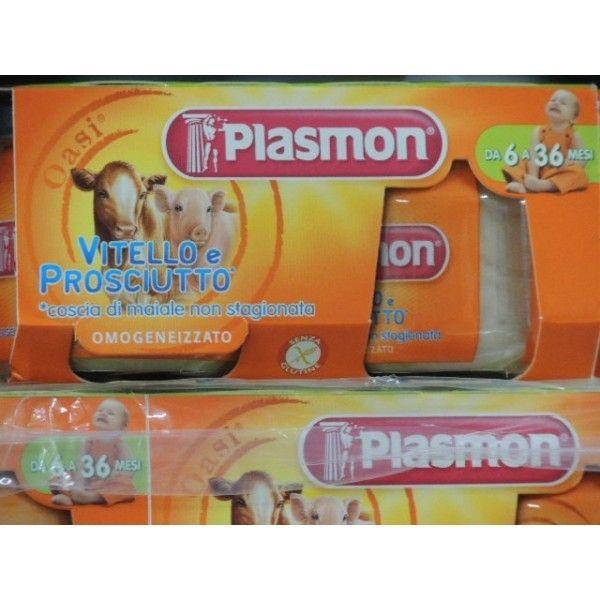 Plasmon Vitello/ Proscuitto  gr 80 X 2 Omogeneizzato