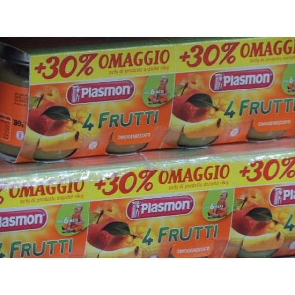 Plasmon   4 Frutti gr. 80 X 2 Omogeneizzato