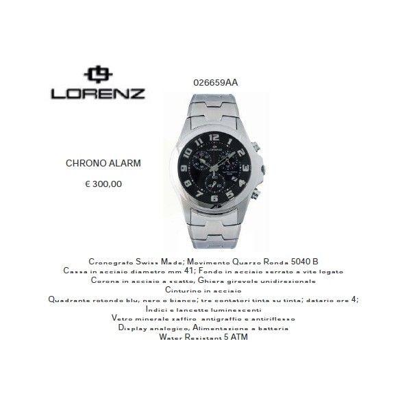Lorenz CHRONO ALARM Nero