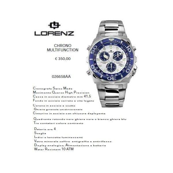 Lorenz Chrono Multifunction Bianco/Blu