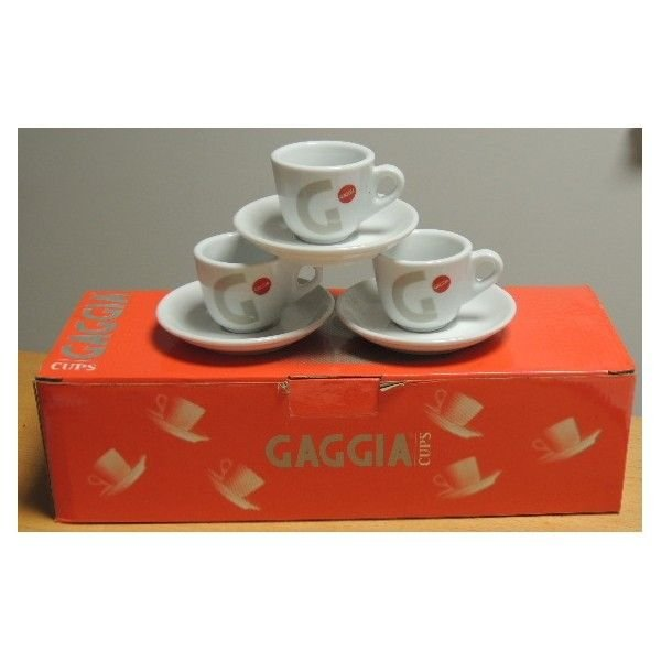 nr. 6 Tazzine da caffè con piattini Gaggia