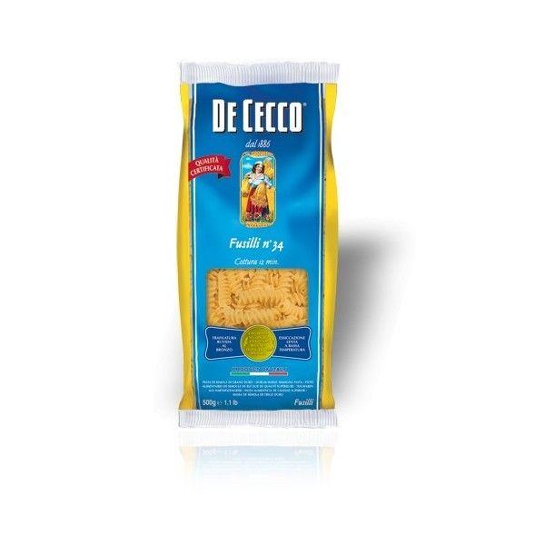 De Cecco Fusilli nr. 34 Gr. 500 Pasta