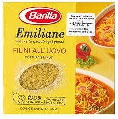 Emiliane Barilla Filini nr.14 Gr. 250 Pasta