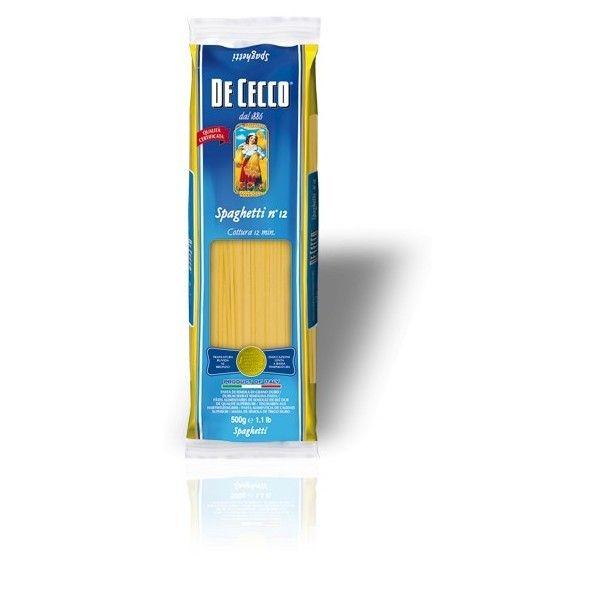 De Cecco Spaghetti nr. 12 Gr. 500 Pasta