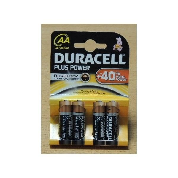 Duracell Plus Power Stilo x 4 AA