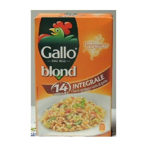 Riso Integrale Gallo Blond kg 1
