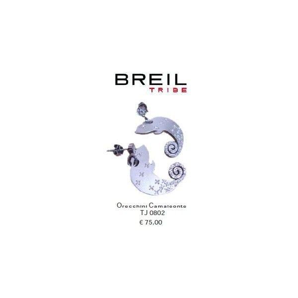 Breil Tribe Orecchini Camaleonte Acciaio