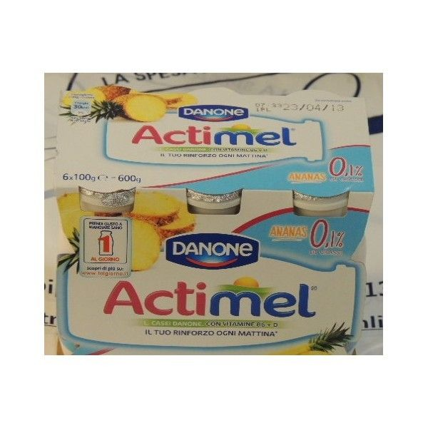 Actimel Danone 6x100 Ananas 0,1% di Grassi