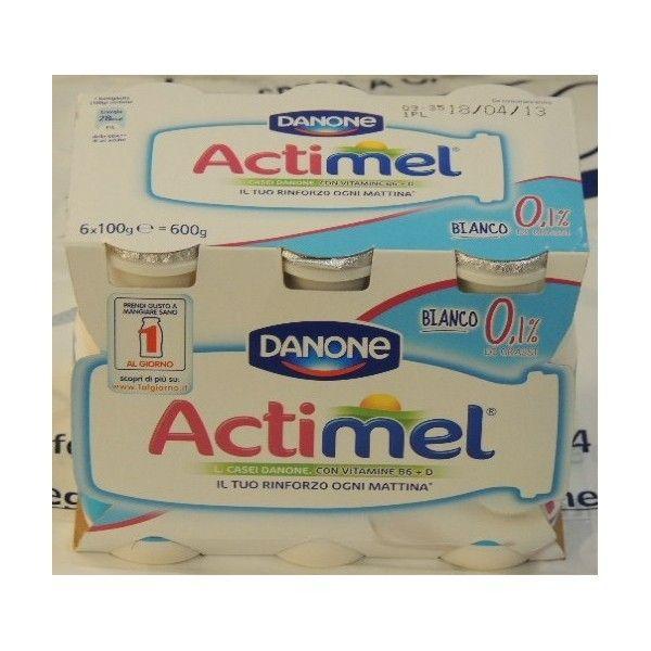 Actimel Danone 6x100 Bianco 0,1% di grassi