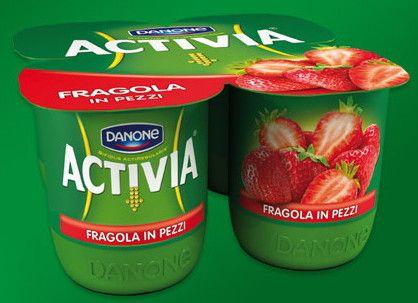 Activia Danone x 4 Fragola Zero Grassi