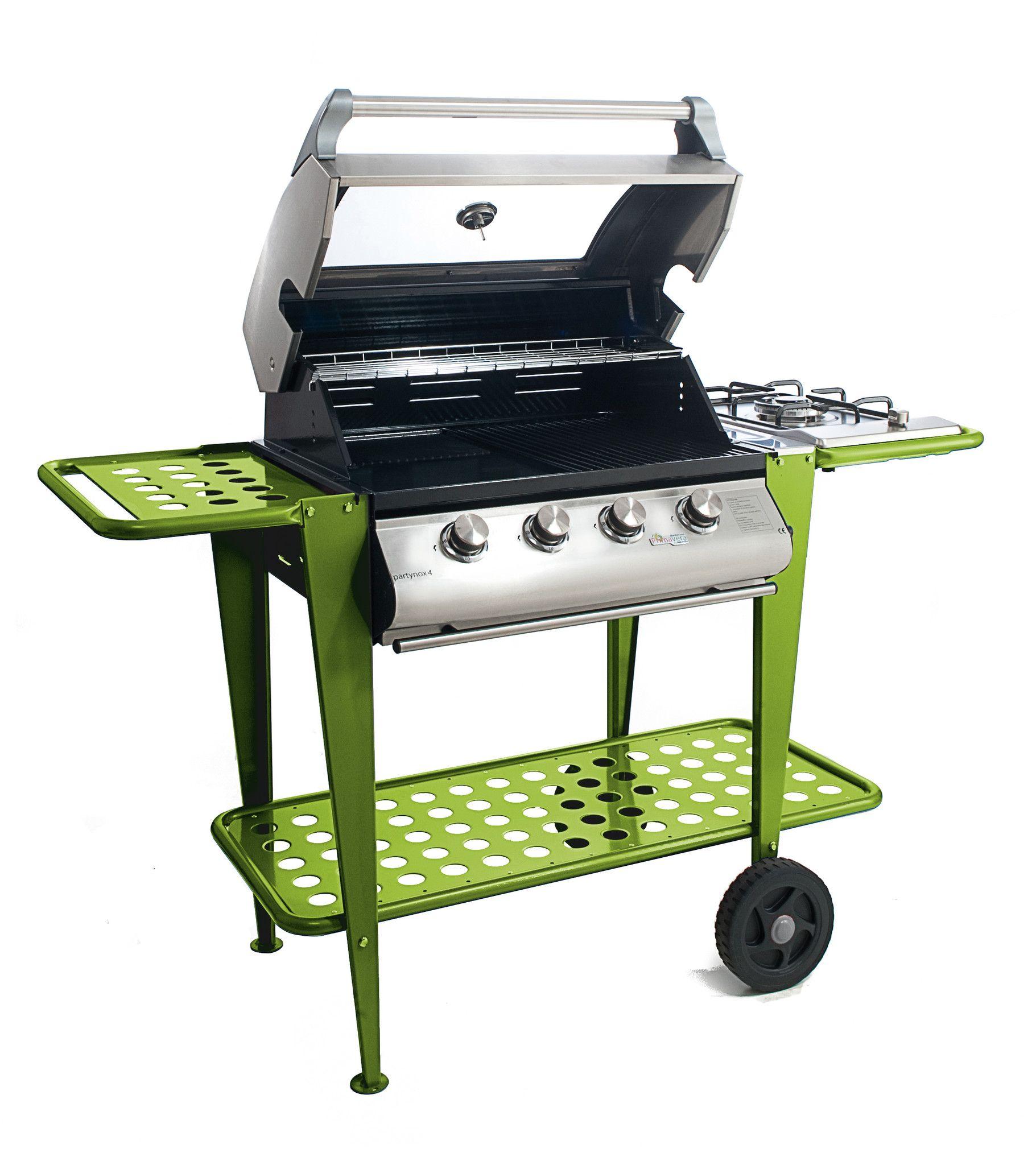 53% Barbecue a Gas Partynox 4 , con cappa forno e carrello in ...