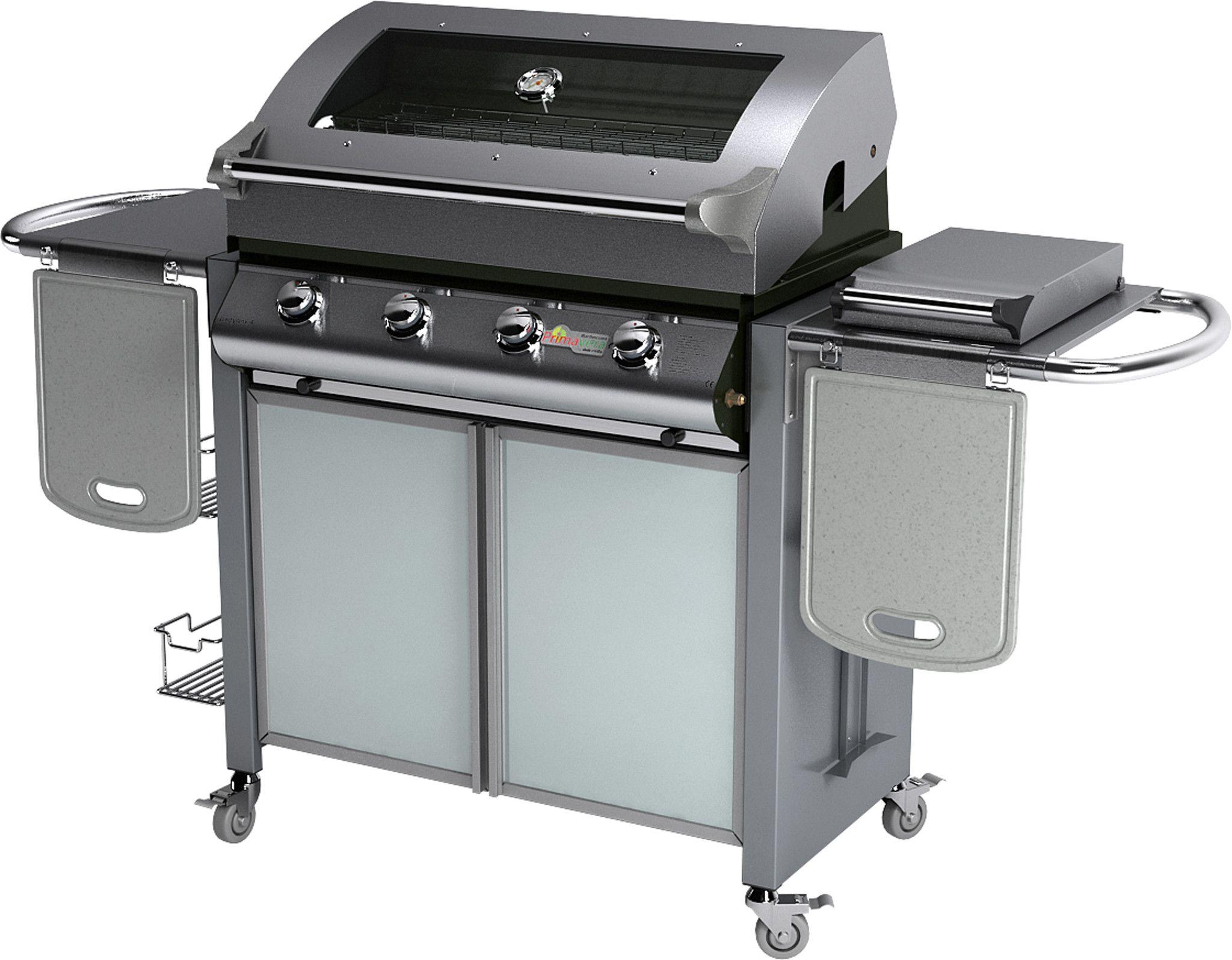 35% Barbecue a Gas Partynox 4 Deluxe , con cappa forno, piano ...
