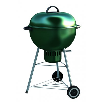Kettle smoker - affumicatore Alex 57 a carbonella - Verde