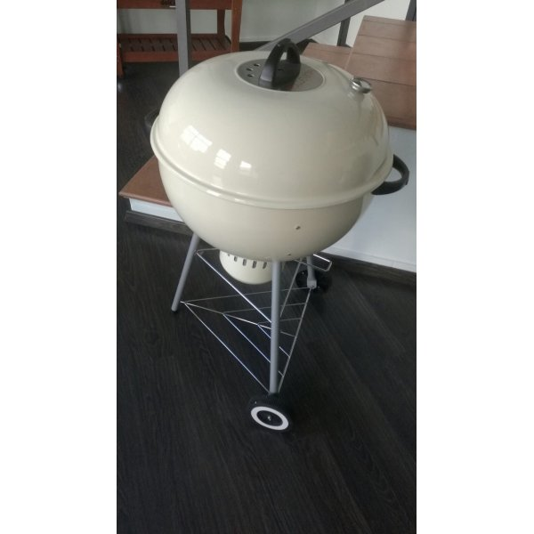 Kettle smoker - affumicatore Alex 57 a carbonella - Bianco