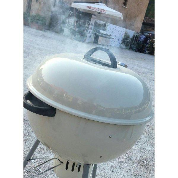 Kettle smoker - affumicatore Alex 57 a carbonella - Bianco