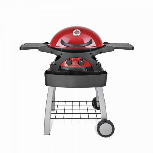Barbecue a Gas Twingrill Rosso con carrello
