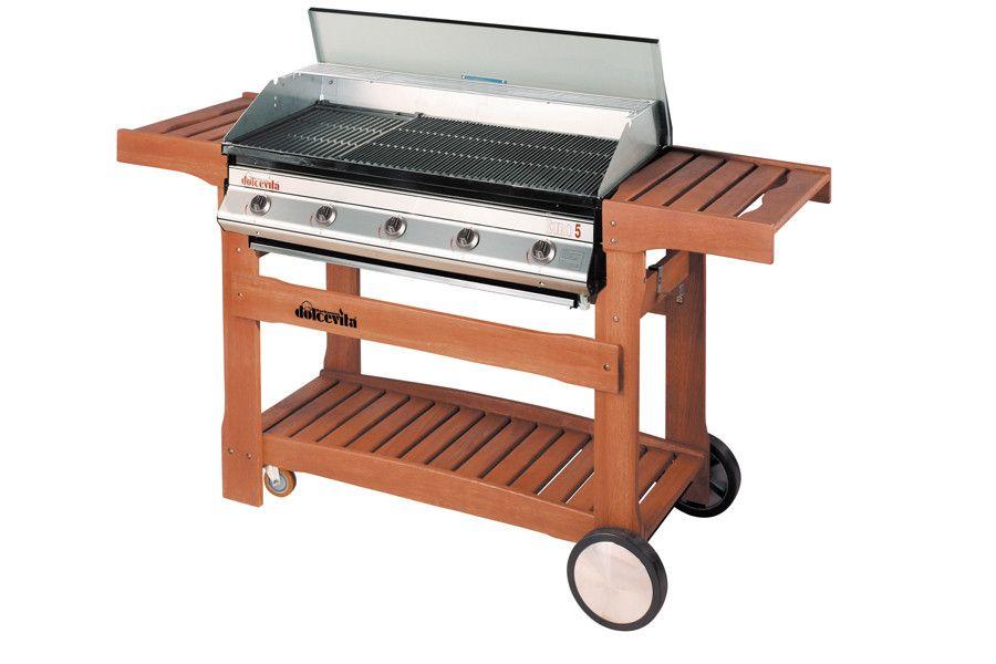 Barbecue a Gas Euro 5 con carrello in legno