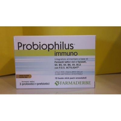 Fermenti LAttici PROBIOPHILUS  Immuno 12 Buste  FARMADERBE