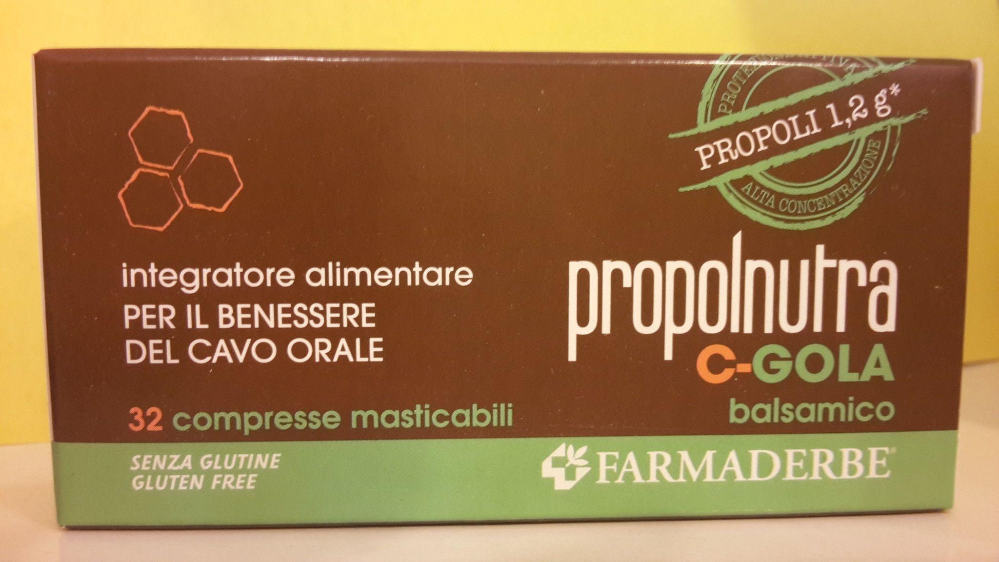 Propolnutra C-GOLA  32  Tav. Balsamiche- FARMADERBE