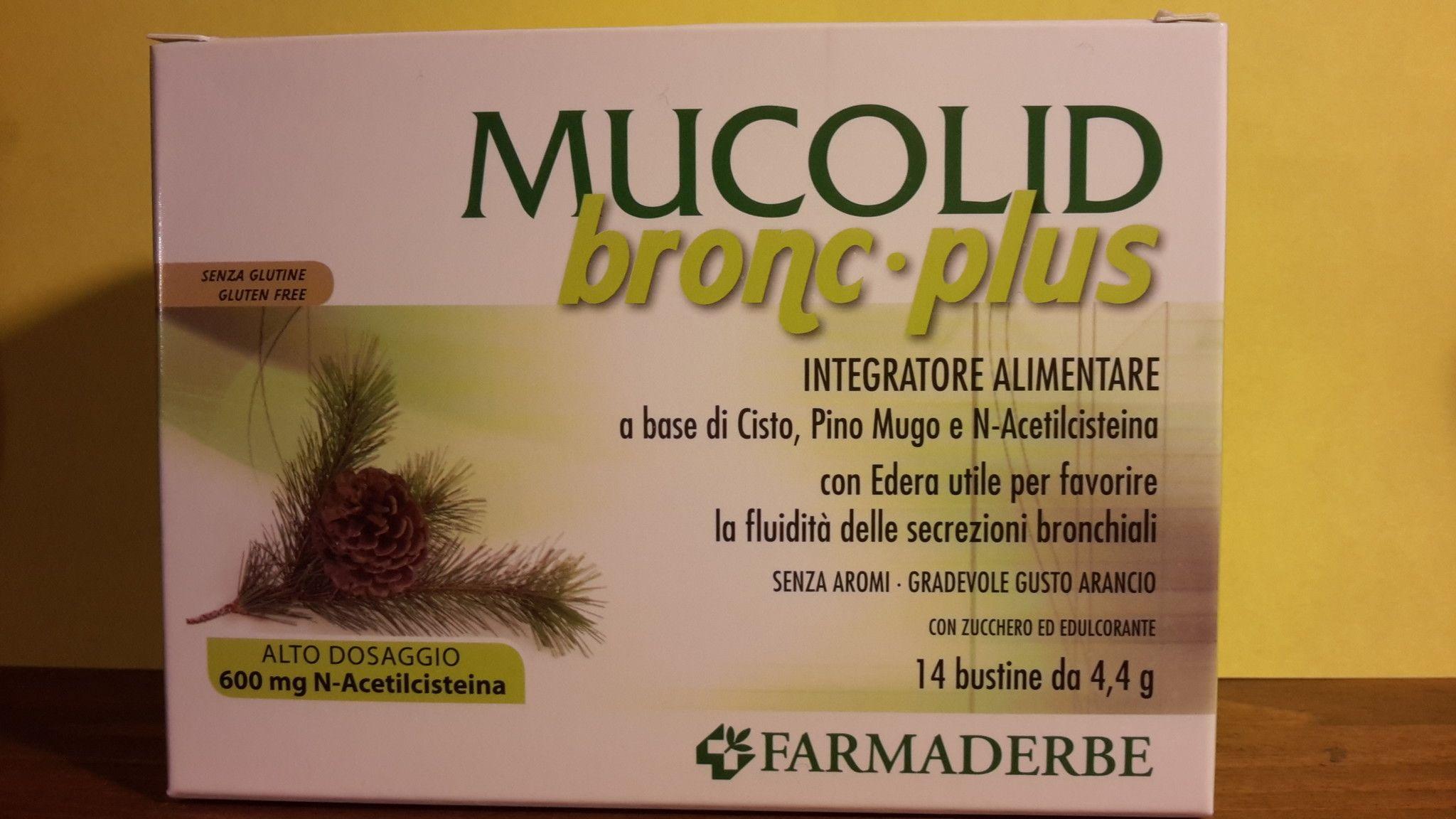 MUCOLID bronc- plus  TOSSE  14 buste  Alto dosaggio- FARMADERBE