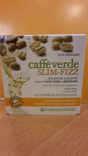 Caffe' Verde  SLIM - FIZZ  - 20  cpr EFFERVESCENTI - Farmaderbe