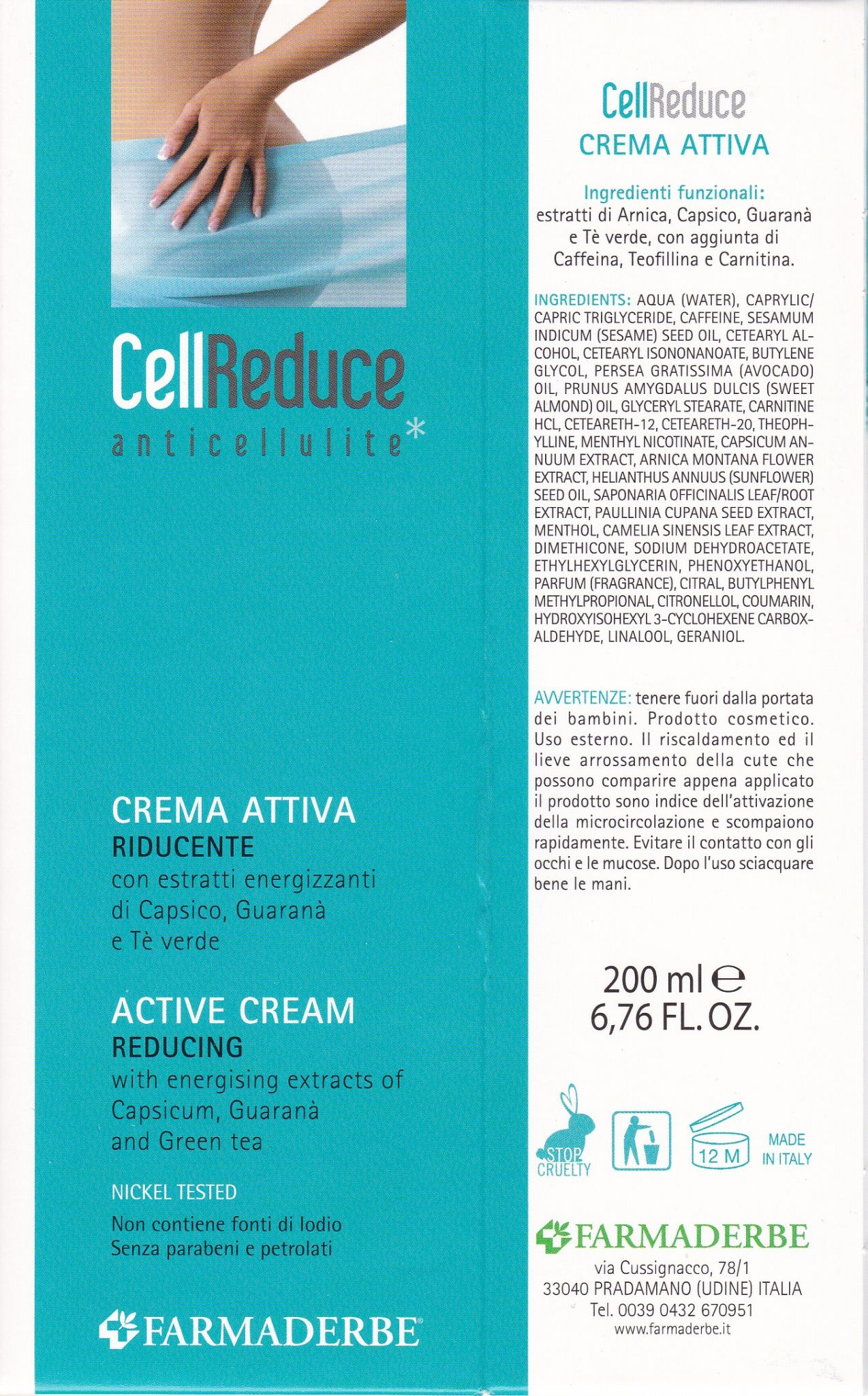 FARMADERBE CELL  CREMA  REDUCE  anticellulite