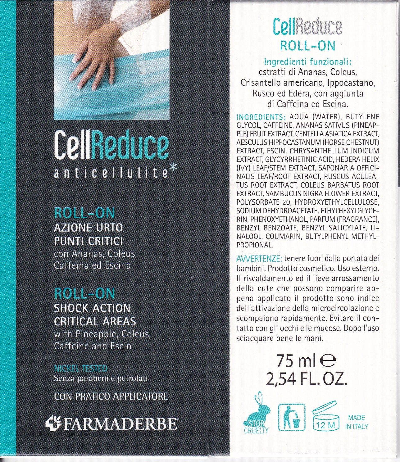 FARMADERBE CELL ROLL-ON   REDUCE anticellulite