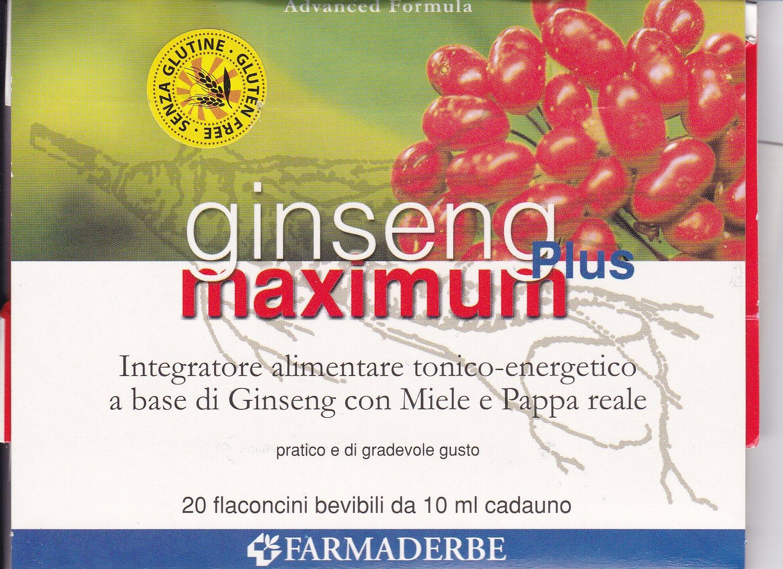 FARMADERBE GINSENG MAXIMUM  plus 20 flaconcini