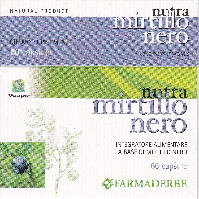 MIRTILLO  NERO  60  cps- FARMADERBE