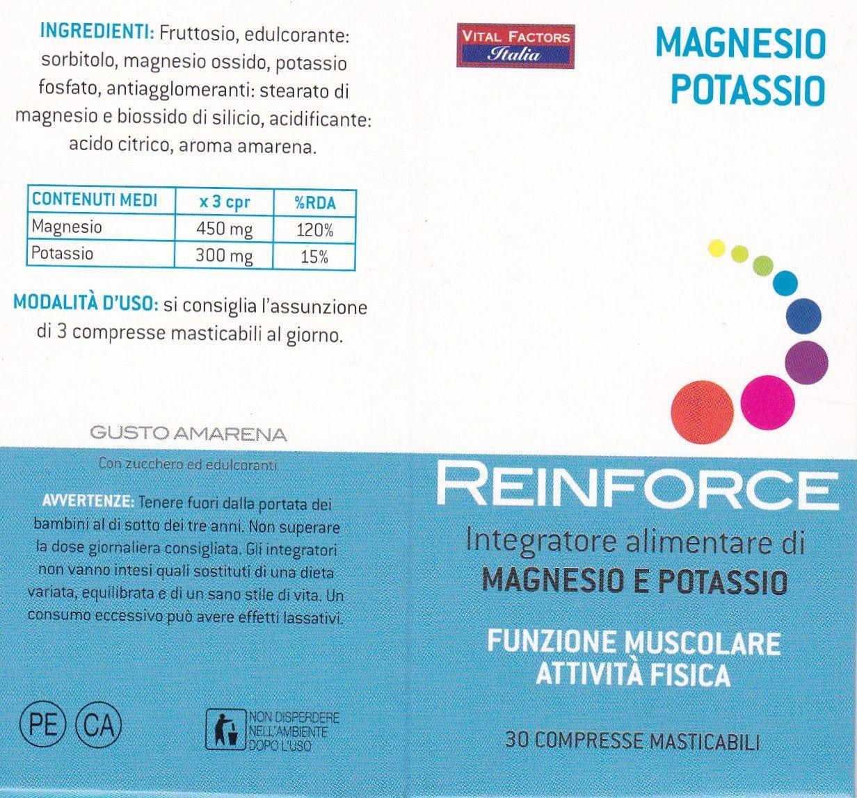Magnesio + Potassio  Masticabile- REIFORCE VITAL FACTORS