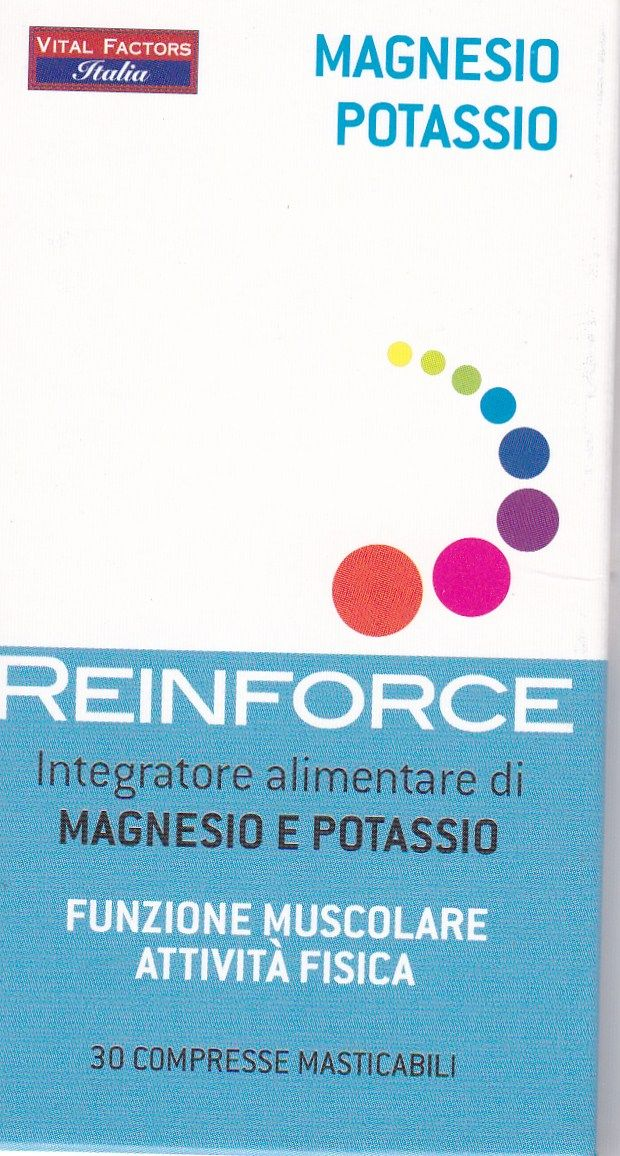Magnesio + Potassio  Masticabile- REIFORCE VITAL FACTORS