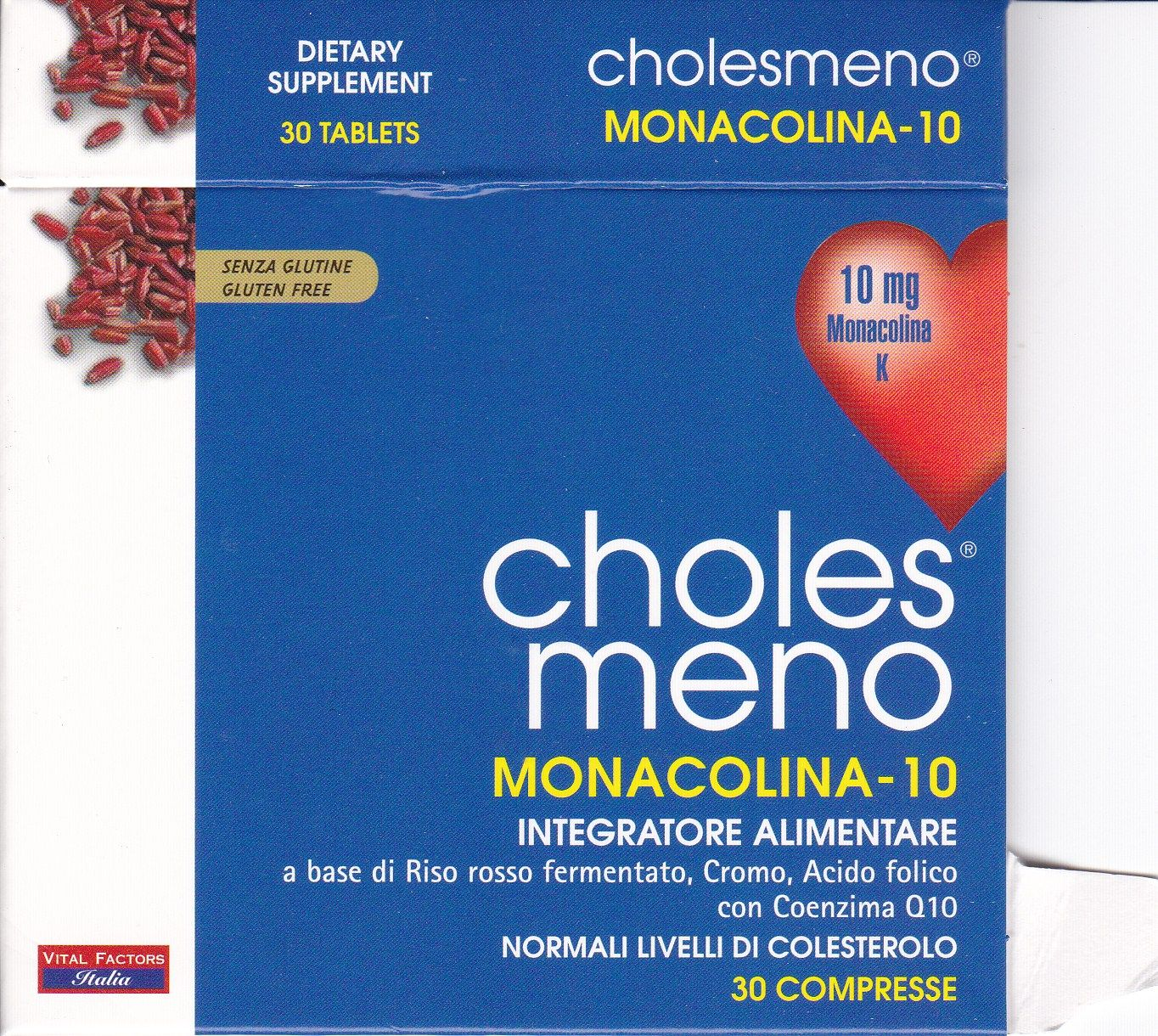 VITAL FACTORS CHOLES MENO  monocolina  30 cpss